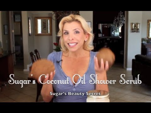 Organic Virgin Coconut Oil Sugar Shower Scrub - Health and Beauty Secrets