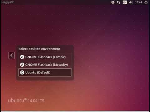 How to change Unity to Gnome in Ubuntu 14.04