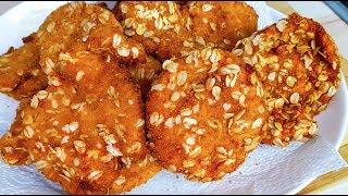 Oat Chicken |  مرغ بریان با آرد سوخاری وجوپرک