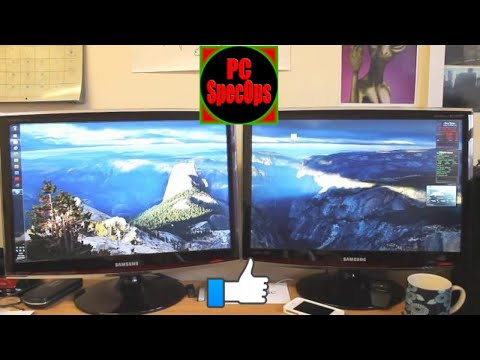 Multi Screen Wallpaper No Extra Software!