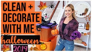 Download NEW CLEAN + DECORATE WITH ME HALLOWEEN FALL 2019 DECOR HOUSE TOUR! CLEANING MOTIVATION | Brianna K Video