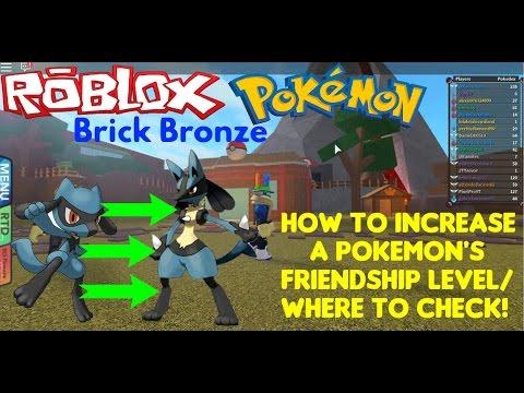 Roblox: Pokemon Brick Bronze: How to Gain/Check Friendship!