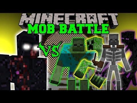MUTANT OBSIDIAN GOLEM VS MUTANT ZOMBIE, CREEPER, ENDERMAN, & SKELETON - Minecraft Mob Battles - Mods