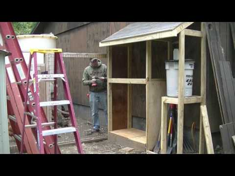 Building A Lean-To Shed For Our Chicken Supplies
