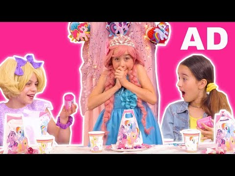 Princess Tea Party with My Little Pony Cutie Mark Crew! - Princesses In Real Life | Kiddyzuzaa | AD