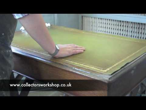 How To Replace A Leather Desk Top Part 2 Laying The