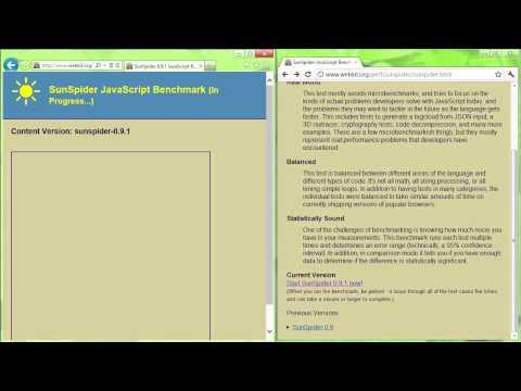 Google Chrome 17 VS Internet Explorer 10 CP - Javascript Speed Benchmark