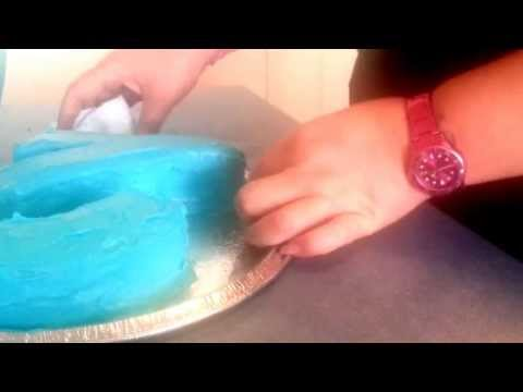 Easy DIY cake decor : Number 2 cake