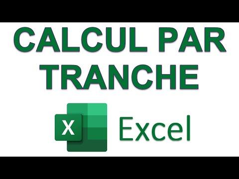 Excel - Calcul par tranche