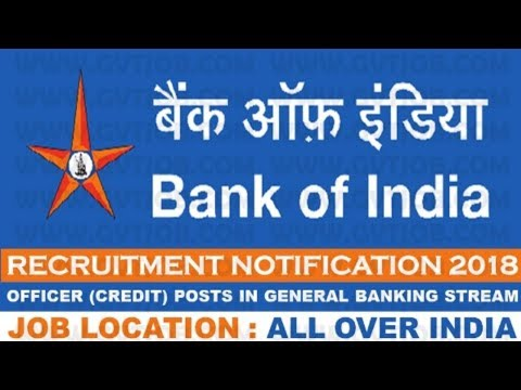 Bank of India (BOI) Recruitment 2018 | All Over India Jobs | Bank Jobs
