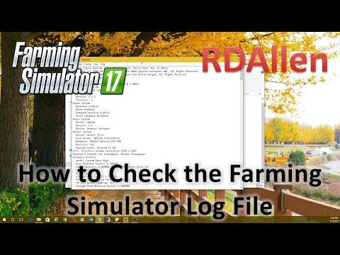How to Check the Farming Simulator 17 Log File
