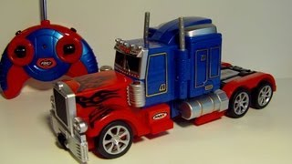 Download TRANSFORMING RC OPTIMUS PRIME REMOTE CONTROL TOY ROBOT TRUCK REVIEW Video