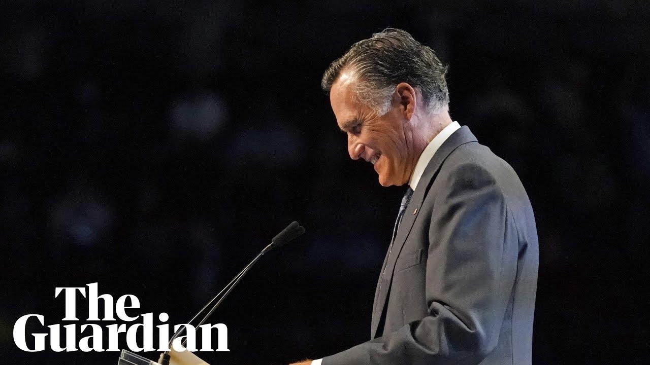 Mitt Romney booed while speaking at Utah GOP convention