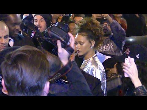 Rihanna and her boyfriend Travis Scott party with celebrity pals in Paris