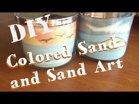 Sand Art Jars ♥  How To Make Colored Sand and Sand Art