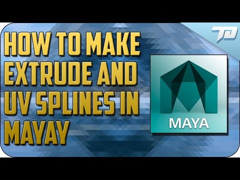How to Create, Extrude and UV Splines in Maya   Tutorial