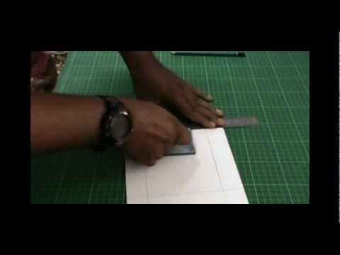 How to cut matte board