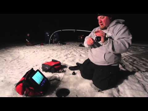 Ice Fishing Night Time Bluegills