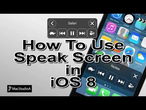 Using Speak Screen in iOS 8
