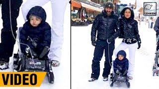 Taimur Ali Khan Enjoying His FIRST Snowfall With Kareena & Saif In Switzerland | LehrenTV