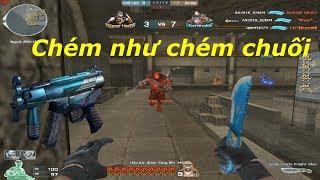 [ Bình Luận CF ] MP5K A4-Breeze, Jungle Knife-Knight Blue - Tiền Zombie v4