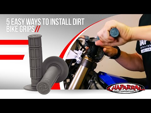 5 Easy Ways to Install Dirt Bike Grips by Travis and Chaparral Motorsports