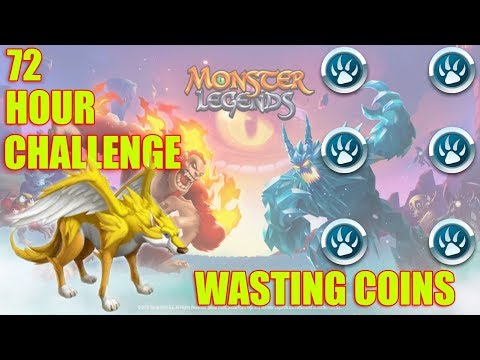 Monster Legends | 72 Hour Challenge End | Wasting All Challenge Coins Gameplay!