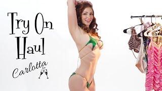 micro bikinis, pinup swimsuits and more! Carlotta's favorite bikini and swimwear try on haul!