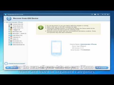 Recover Deleted or Lost Files Directly from iPhone 5 or 4S