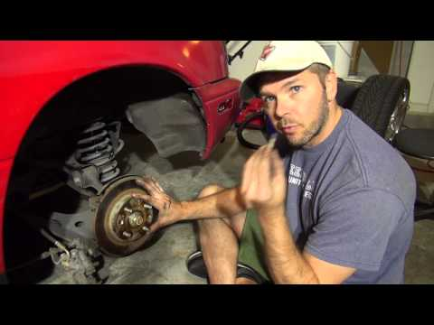 1990 Miata Project Episode 05 - Driver side rear Brake Rotor and Pads