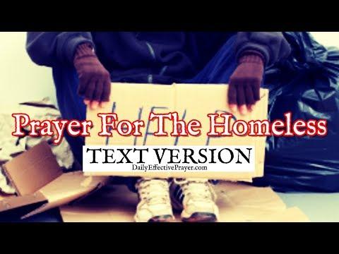 Prayer For The Homeless (Text Version - No Sound)