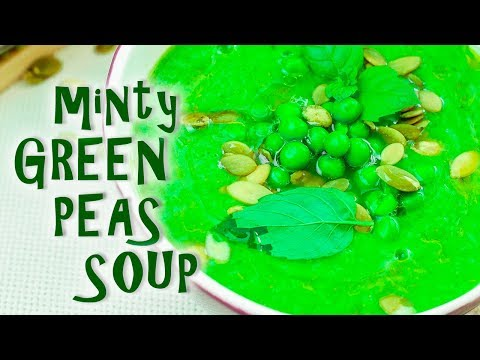 Creamed green peas soup recipe
