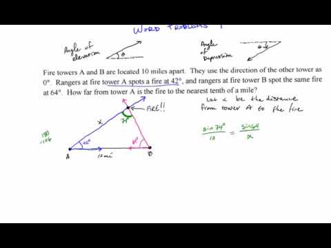 Law of Sines Word Problems #1