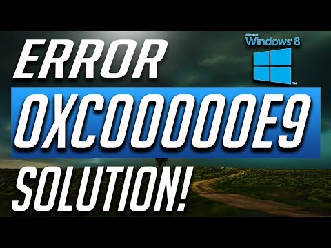 How to Fix Error Code 0xc00000e9 in Windows 8 / 8.1 - BEST FIX! 2019