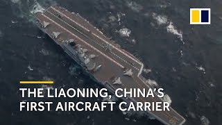 The Liaoning, China's first aircraft carrier