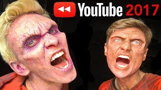 TURN INTO ZOMBIES!! YouTube Rewind Behind the Scenes 2017 | #YouTubeRewind