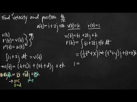 velocity and position given acceleration and initial conditions (KristaKingMath)