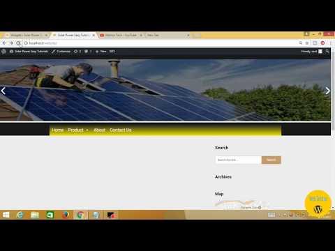 How to add social icons in wordpress in Urdu/Hindi | Video 21