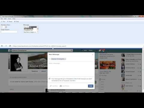 Facebook Graph Search Auto Message Non Friends