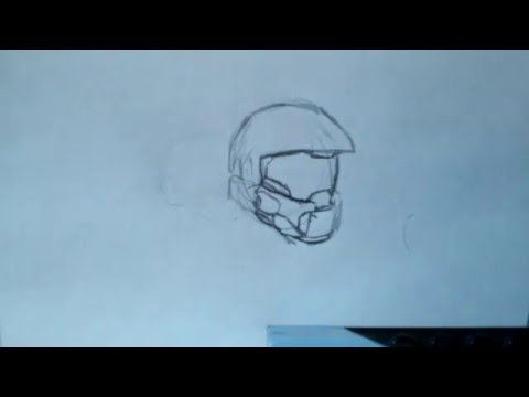 How to draw #1: Master Chief's helmet part 1