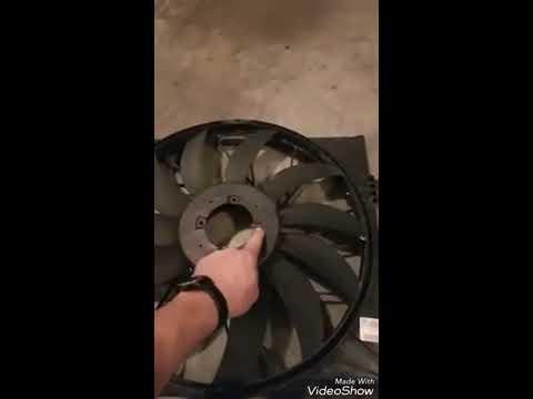 Cooling Radiator fan rebuild on mercedes GL450 X164