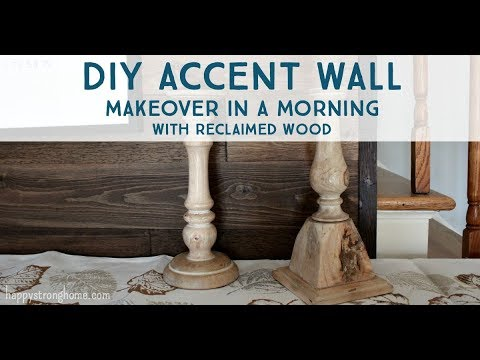 DIY Accent Wall Makeover in a Morning with TimberChic Reclaimed Wood