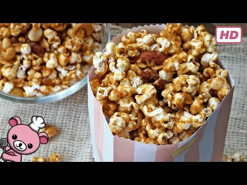 How to make easy - Homemade Caramel Popcorn - (video)