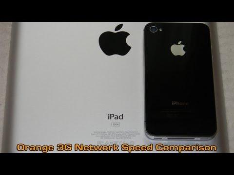 iPhone 4S vs The New iPad (3gen) - Orange 3G Network Speed Comparison
