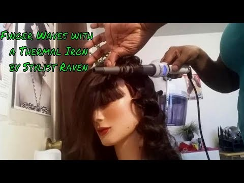 Gorgeous finger waves with wand or curling iron | Texas Hairstylist