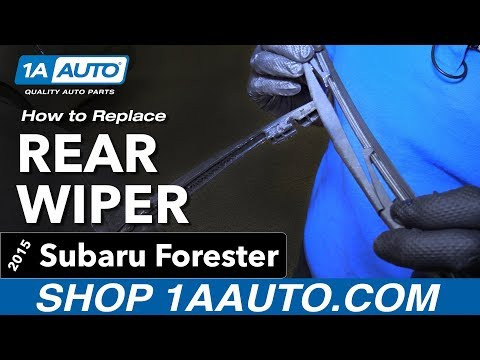 How to Replace Install Rear Wiper Blade 15 Subaru Forester