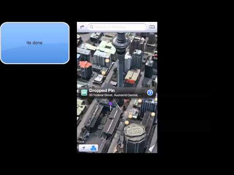 HOW TO REMOVE PURPLE PIN IN IOS 6 APPLE MAPS IPHONE 5 IPOD TOUCH)