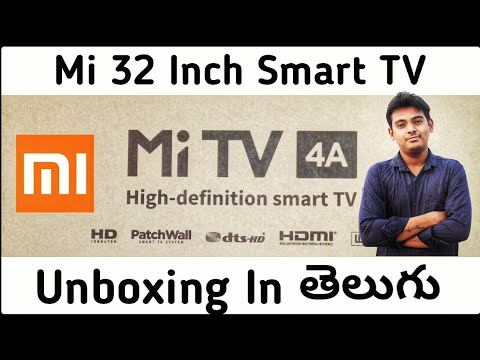 Mi 32 inch led tv in india unboxing In Telugu