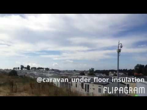 Caravan under floor insulation