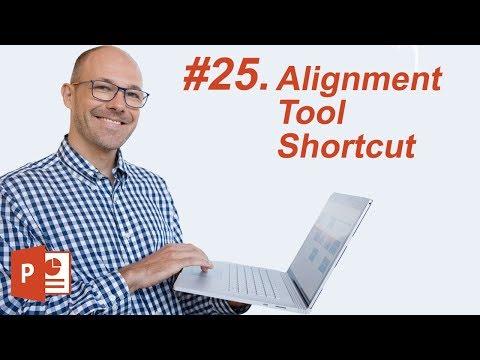 #25: Alignment Tool Shortcut (Microsoft PowerPoint Shortcuts)
